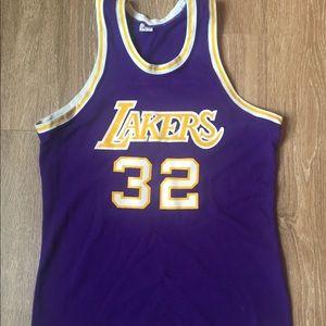 Tops - Men's Vintage Magic Johnson/ Lakers jersey